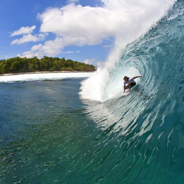 """""""Surf Sumatra"""" stock image"""
