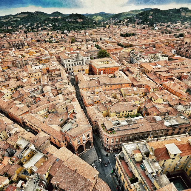"""Bologna from above"" stock image"