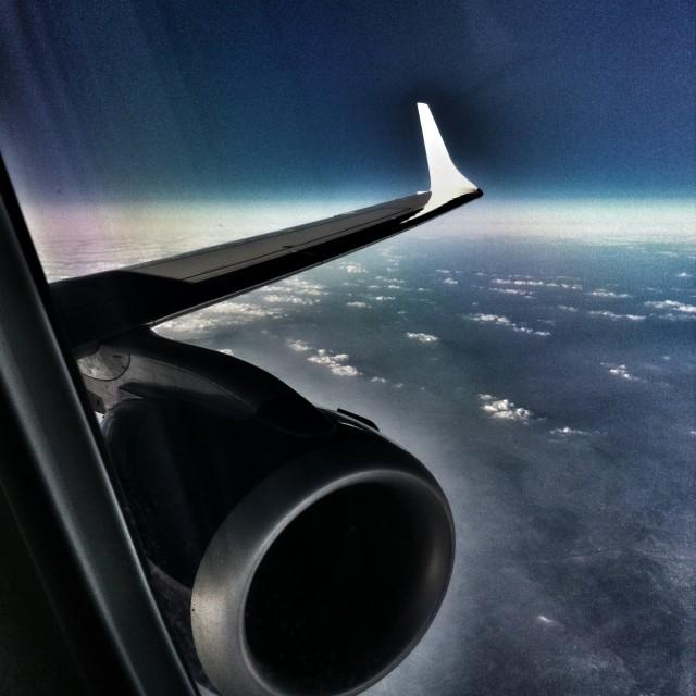 """35,000 feet up"" stock image"