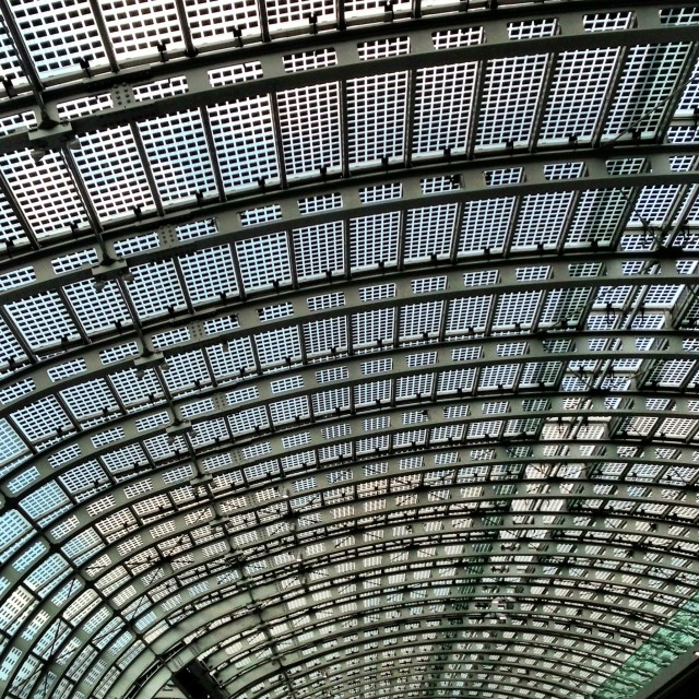 """Station roof, Turin, Italy"" stock image"