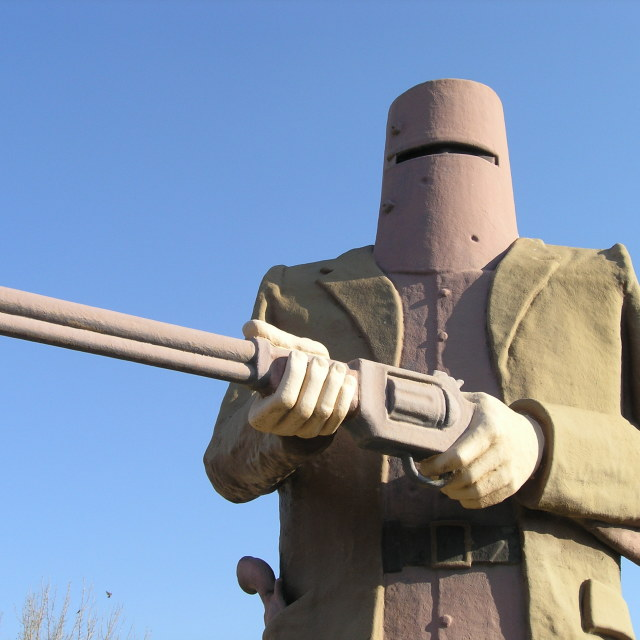 """Ned Kelly Statue"" stock image"