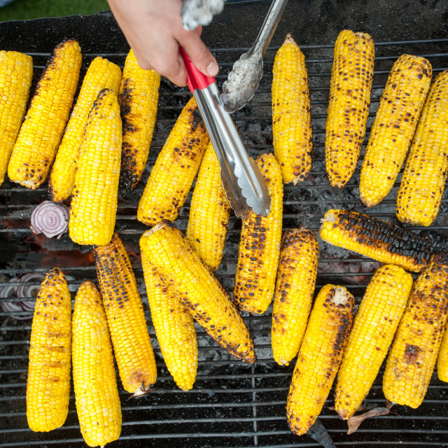"""Corn on the cob BBQ"" stock image"
