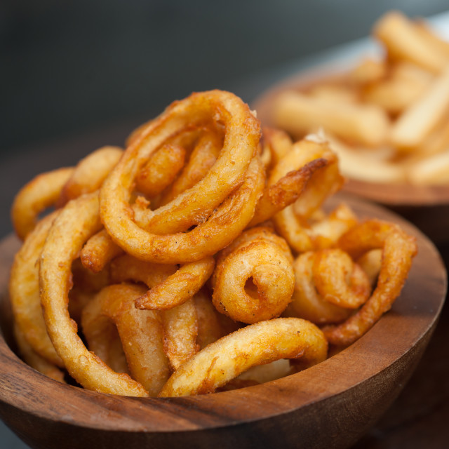 """""""Curly fries"""" stock image"""