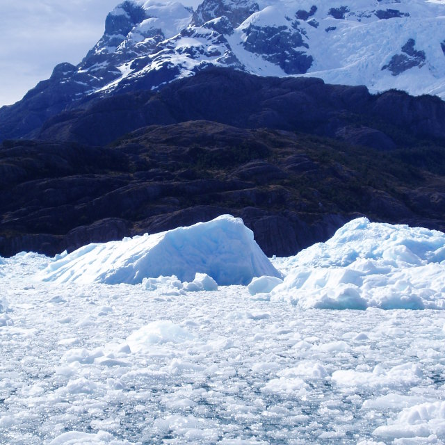 """Glacier Ice, Southern Chile"" stock image"