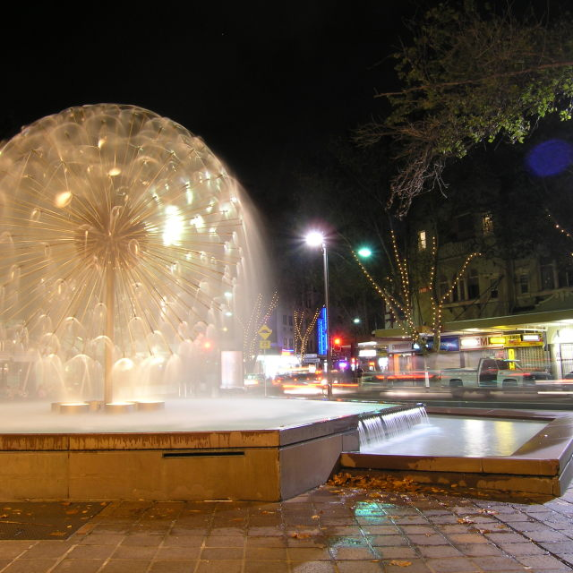"""Fountain, Kings Cross, Sydney, Australia"" stock image"