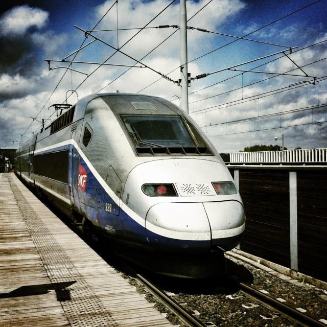 """TGV at Avignon"" stock image"