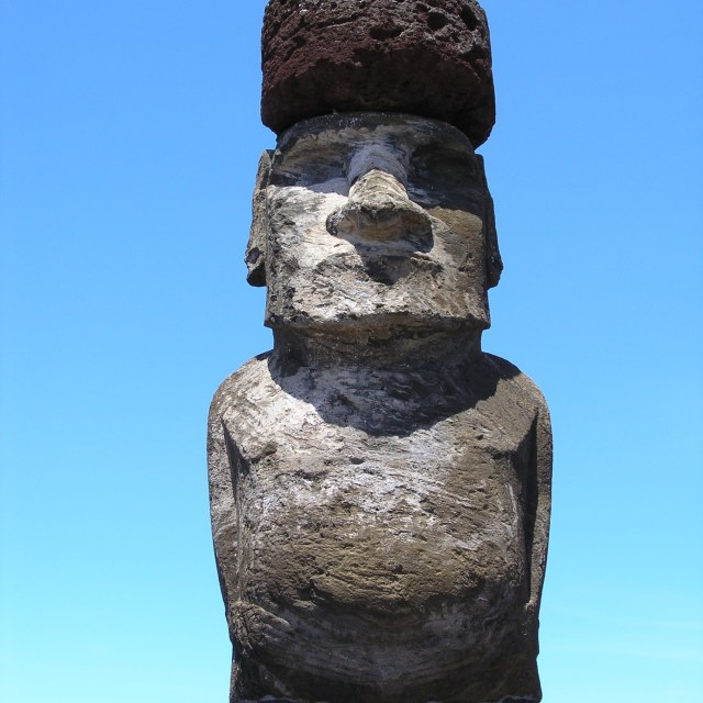 """Stone Statue, Easter Island"" stock image"