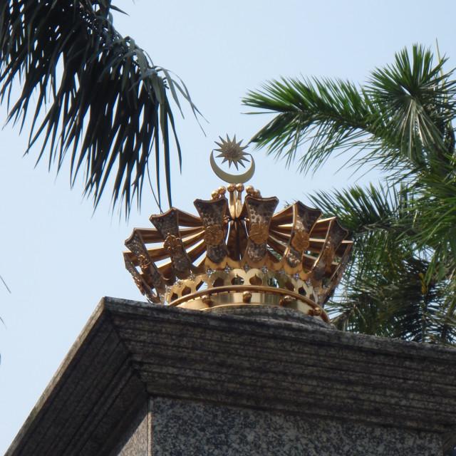 """""""Crown, Malaysia"""" stock image"""