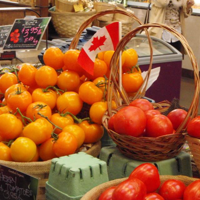 """Granville Island Produce, Vancouver, Canada"" stock image"