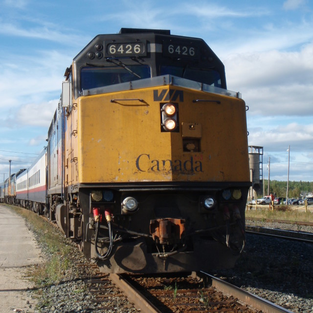 """'The Canadian' Train, Canada"" stock image"