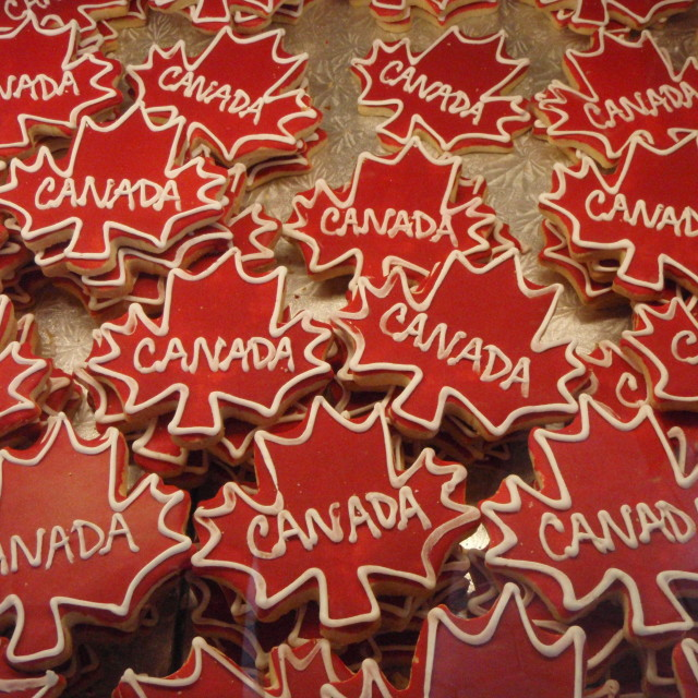 """Patriotic Cookies, Ottawa, Canada"" stock image"