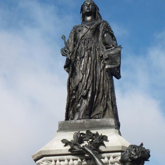 """""""Statue of Queen Victoria, Ottawa, Canada."""" stock image"""