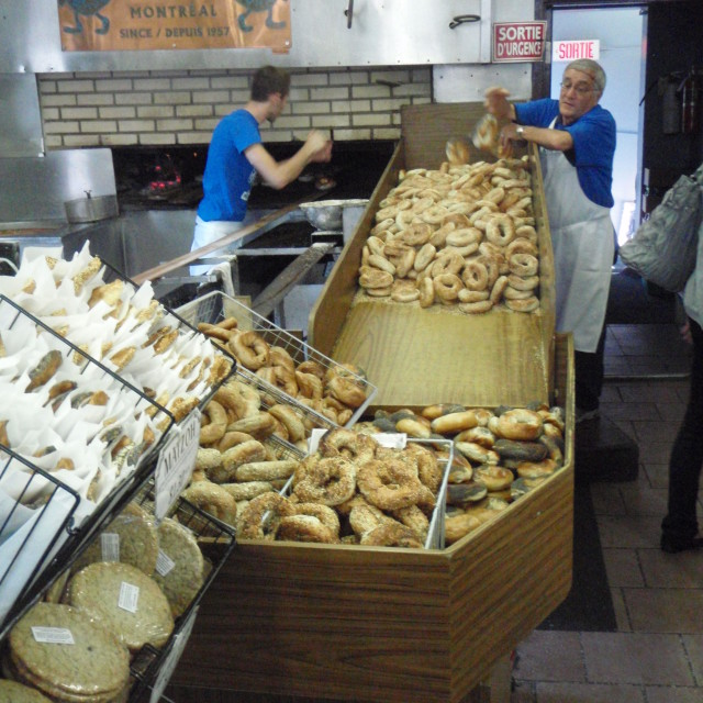 """St Viateur Bagel Shop, Montreal, Canada"" stock image"