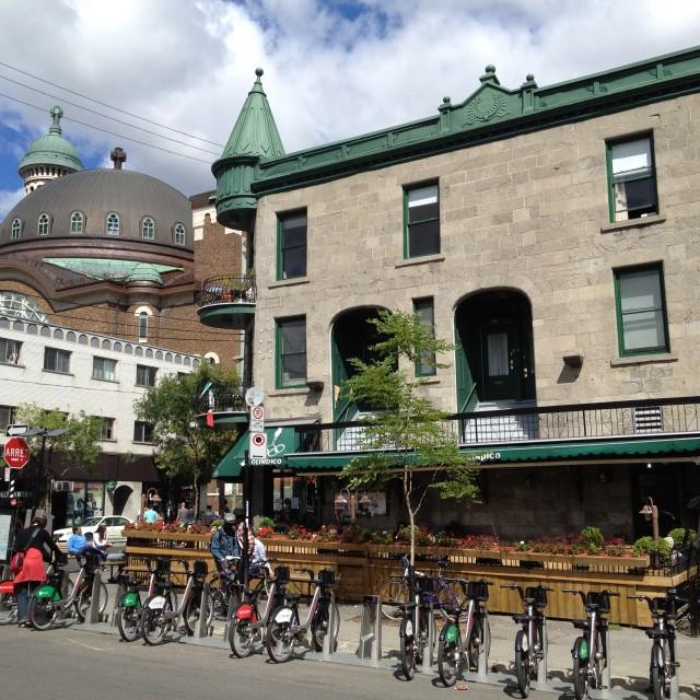 """Cafe Olimpico, Montreal, Canada"" stock image"