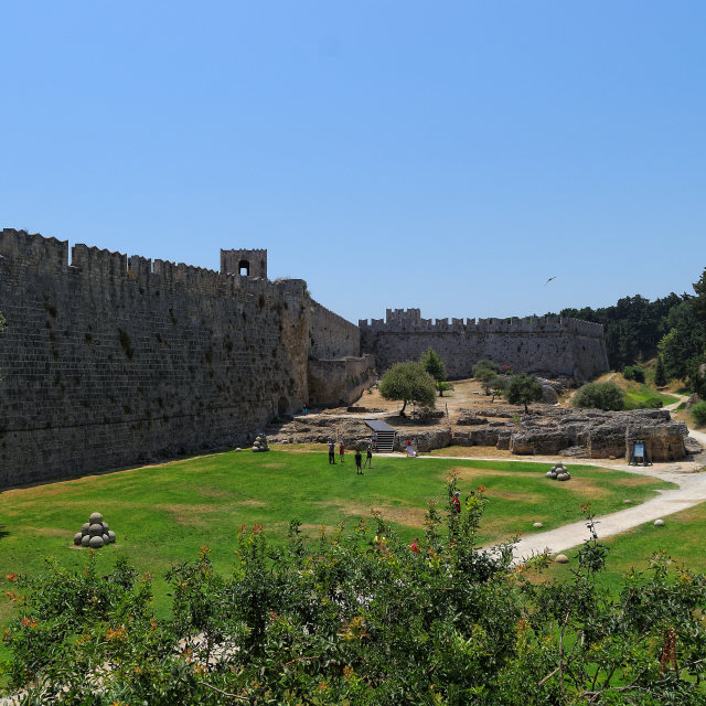 """""""Ancient Rodos Fortification"""" stock image"""