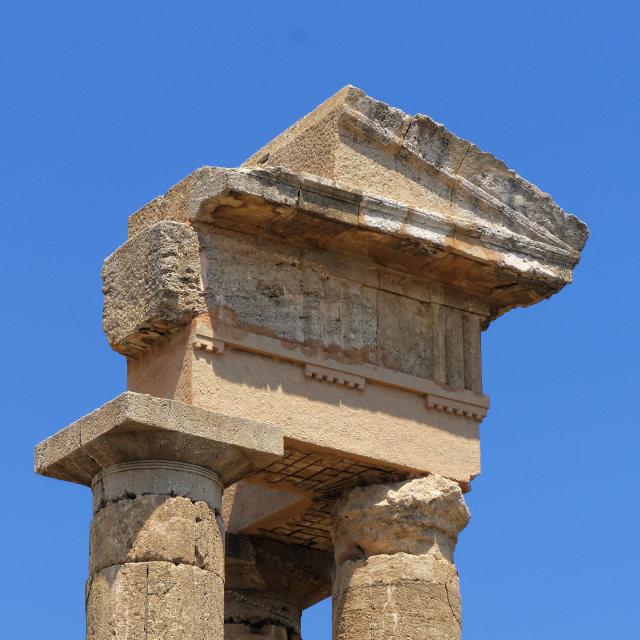 """Rodos acropolis temple"" stock image"