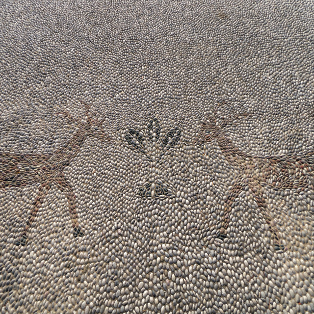 """Pebble Mosaic in Rodos"" stock image"