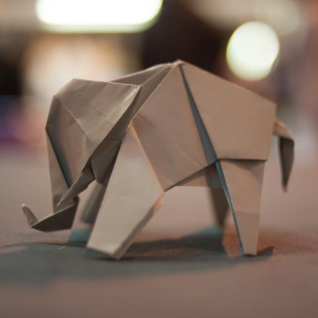 """""""Origami Elephant"""" stock image"""