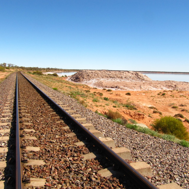 """Outback railway"" stock image"