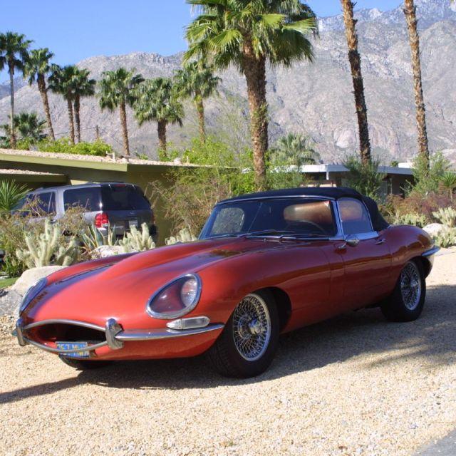 """""""Jaguar E-Type aka Jaguar XK-E"""" stock image"""