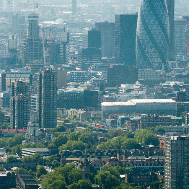 """""""London looking west"""" stock image"""