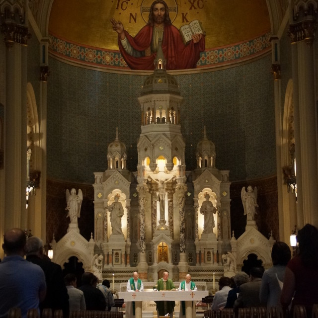 """San Francisco Saints Peter & Paul Church"" stock image"
