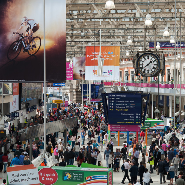 """London Waterloo Train Station 2"" stock image"