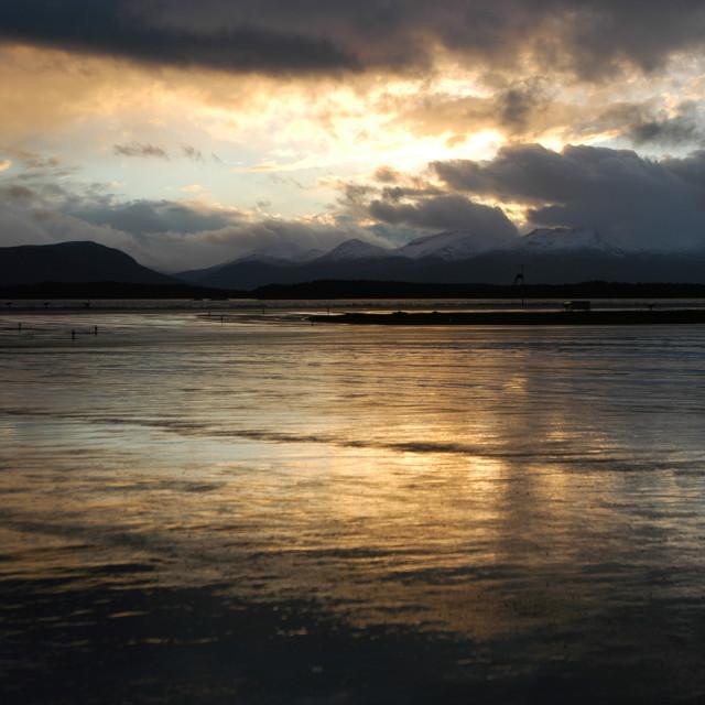 """""""Norway Sunset"""" stock image"""