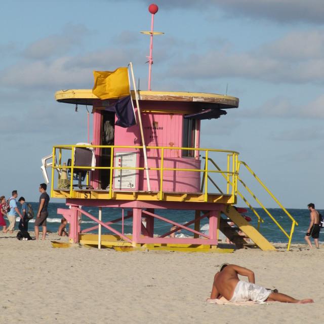 """""""Art deco lifeguards"""" stock image"""