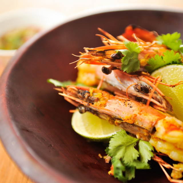 """Thai Prawns"" stock image"
