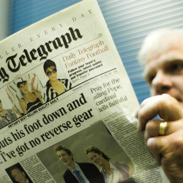 """Telegraph Reader"" stock image"