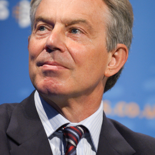 """Tony Blair Portrait"" stock image"