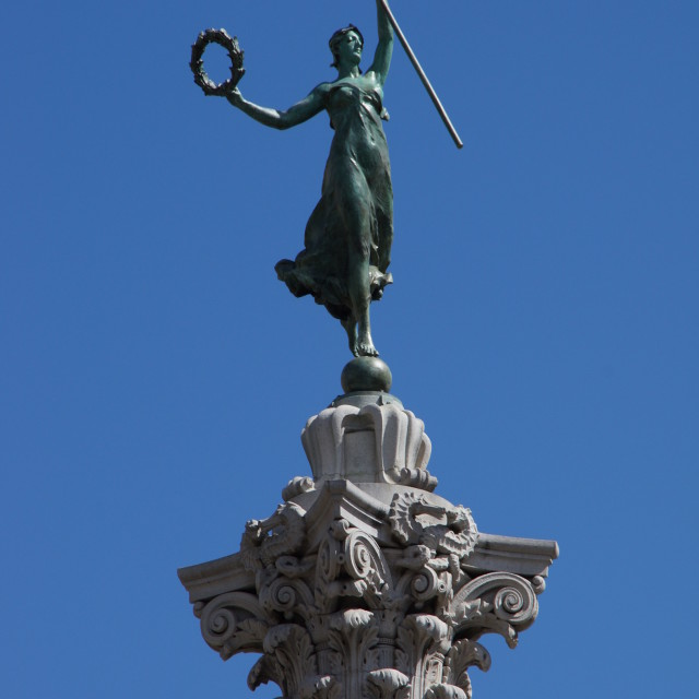 """Victoria Goddess on Union Square Column"" stock image"