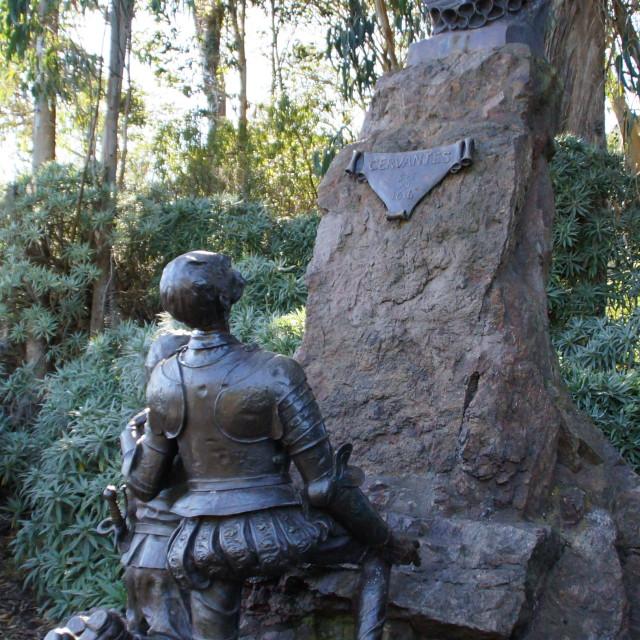 """""""Miguel de Cervantes Statue in Golden Gate Park"""" stock image"""
