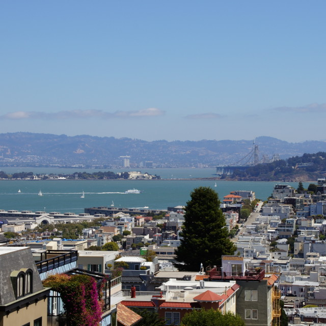"""View of San Francisco Bay"" stock image"