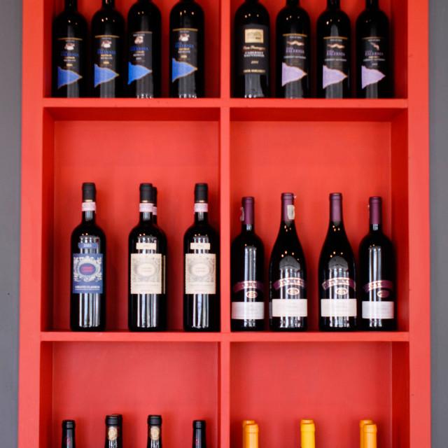 """Wine Bottles"" stock image"