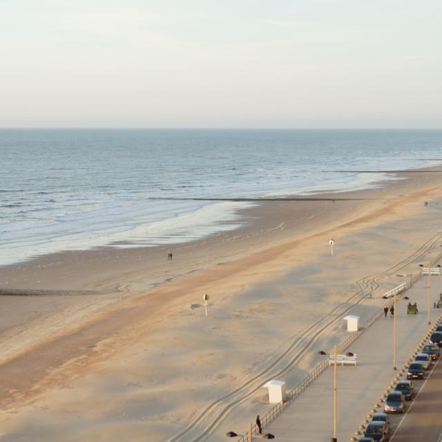 """""""Middelkerke Beach"""" stock image"""