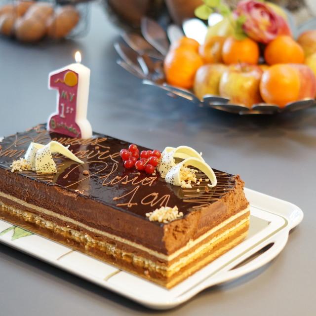 """First Birthday Cake"" stock image"