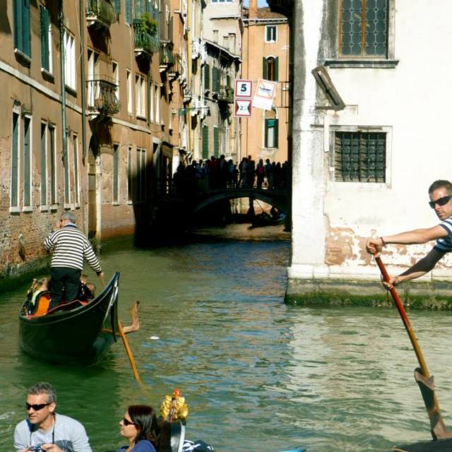 """""""At work in Venice"""" stock image"""