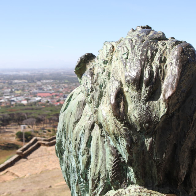 """View over Cape Town suburbs from Rhodes Memorial"" stock image"