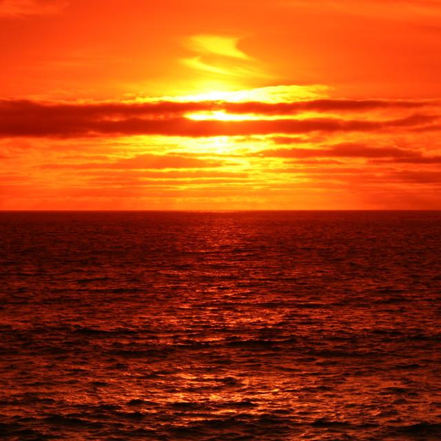 """""""Sunset blazing"""" stock image"""