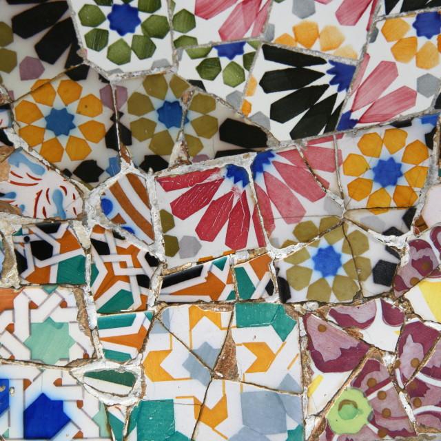 """""""Gaudi tile detail"""" stock image"""