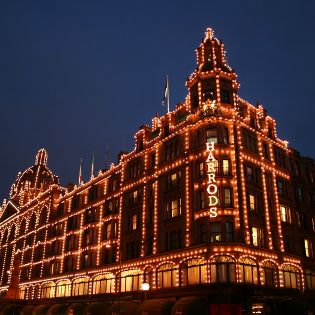 """Harrods at Christmas"" stock image"