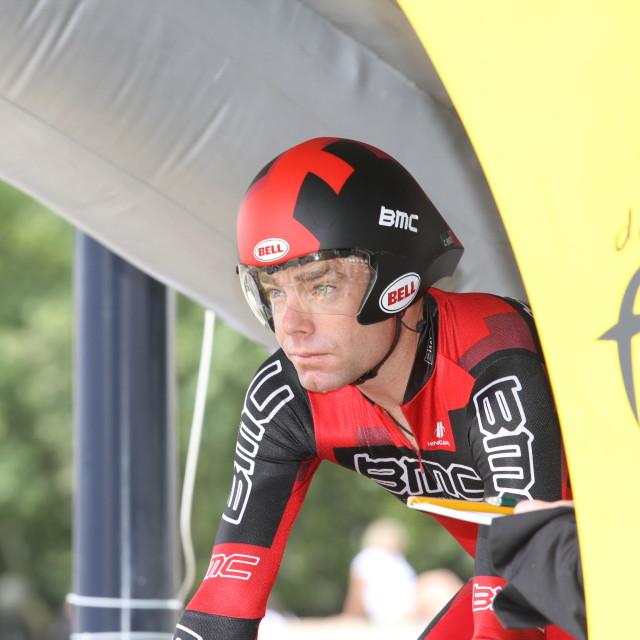"""""""Cadel Evans, 2010 Tour de France, Bordeaux ITT"""" stock image"""