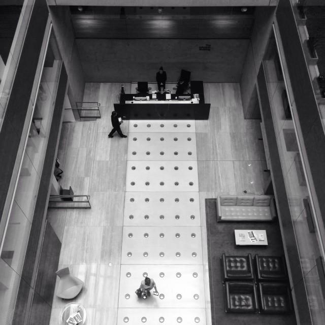 """""""Foyer Reception at swanky London company"""" stock image"""
