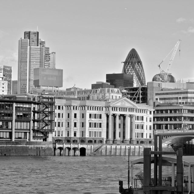 """London Thames/Waterloo"" stock image"