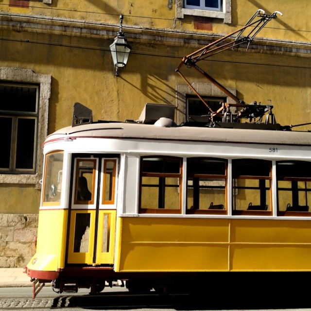 """Lisbon Street Car"" stock image"