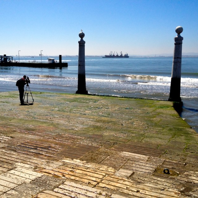"""Lisbon Waterfront"" stock image"