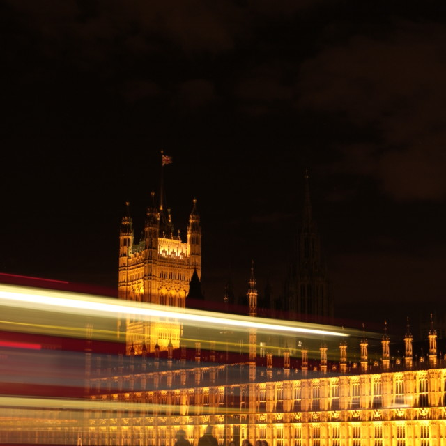 """Parliament At Night"" stock image"