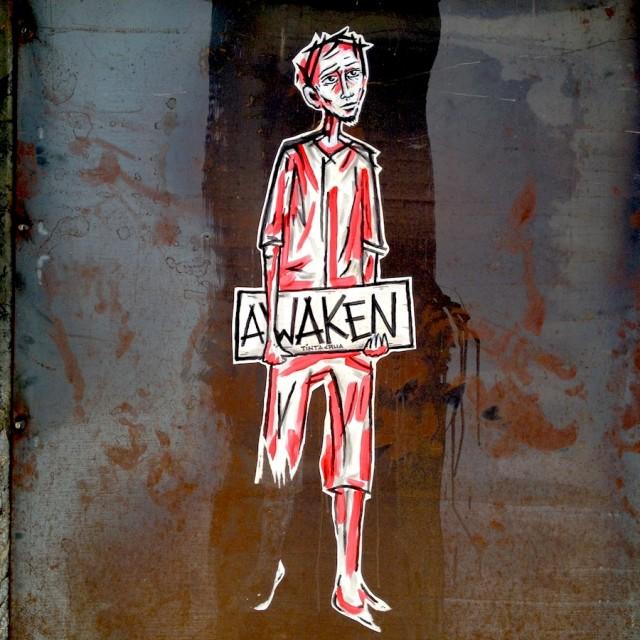 """Lisbon Street Art"" stock image"